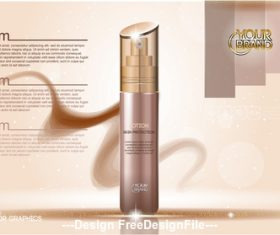 Famous brand cosmetic ads template vector
