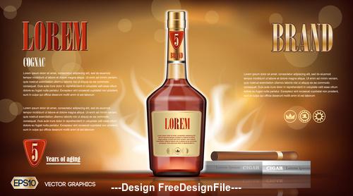 Famous wine advertisement vector