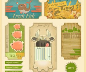 Farm animal banner vector