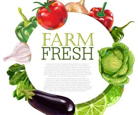 Farm fresh Vegetable Ad Template vector