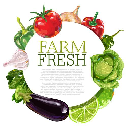 Farm fresh Vegetable Ad Template vector