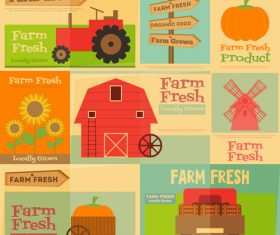 Farm house background banner vector