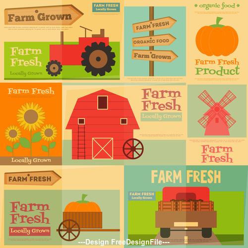 Farm house background banner vector