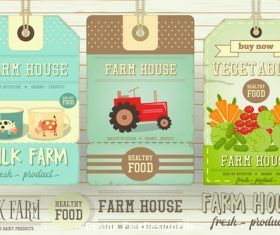 Farm house tags vector