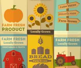 Farm plant banner vector