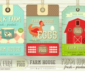 Farm price tags vector