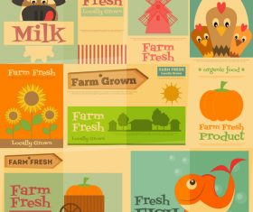 Farm promotional card vector