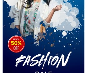 Fashion Sale Flyer psd template