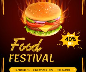 Fast food flyer template psd design