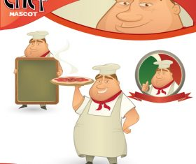 Fat chef illustration vector