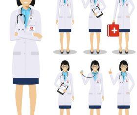 Female surgeon cartoon vector