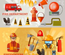 Fire department security promotion banner vector