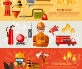 Fire safety promotion banner vector
