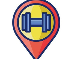 Fitness centre cartoon vector