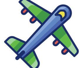 Flight cartoon vector