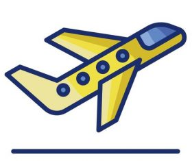 Flight take off cartoon vector