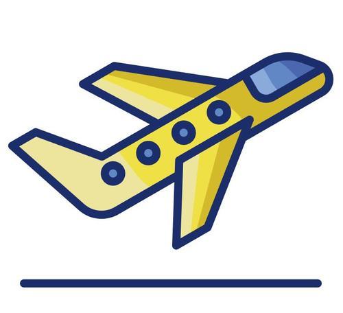 Flight take off cartoon vector