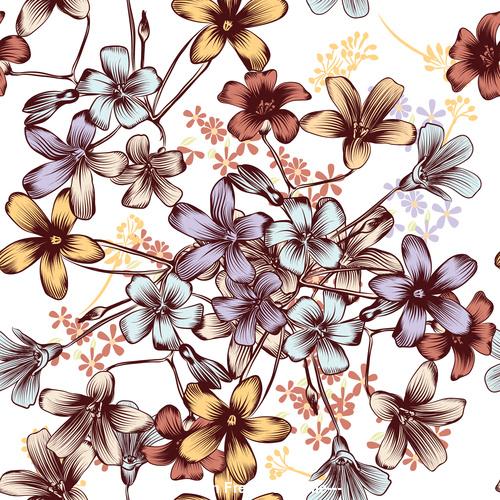 Floral pattern design Premium Vector