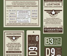 Flying equipment label vector