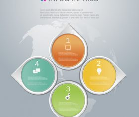 Four diamonds Infographics design template vector