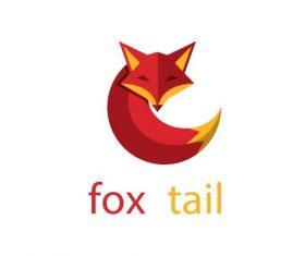 Fox tail logo vector