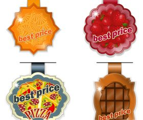 Fruit price tag vector