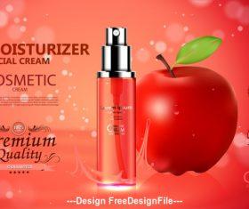 Fruity skin moisturizing spray cover design vector