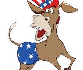 Funny donkey cartoon vector
