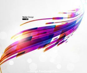 Futuristic bend presentation vector