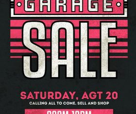 Garage Sale Flyer PSD Template