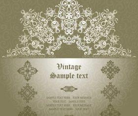 Geometric pattern decoration vector