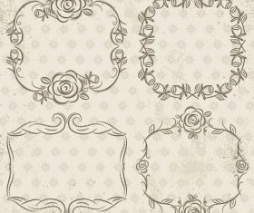 Geometric pattern lacy frame decoration vector