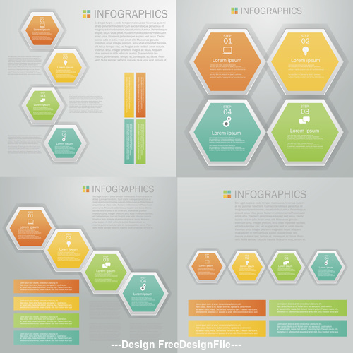 Geometry Infographics design template vector
