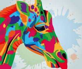 Giraffe watercolor illustration vector