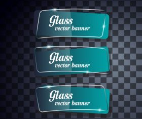 Glass banners vector