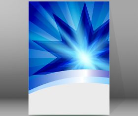 Glowing background brochure cover vector