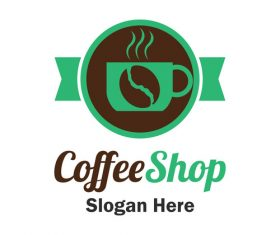 Green coffee logo vector