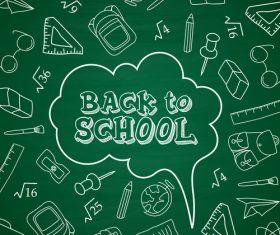 Green dialog back to school vector