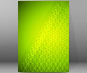 Green square background brochure cover vector