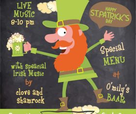 Happy st patrkks day promotion poster vector