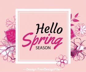Hello spring banner template vector
