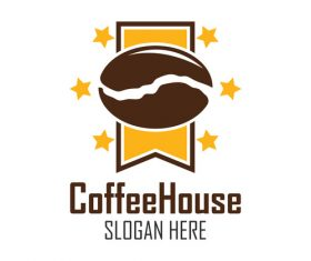 High quality coffee beans logo vector
