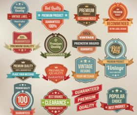 High quality vintage label design element vector