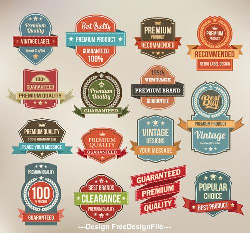 High quality vintage label design element vector