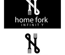 Home fork logo vector