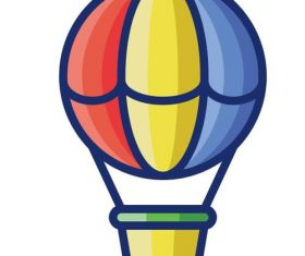 Hot air balloon cartoon vector