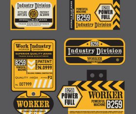 Industry division label vector