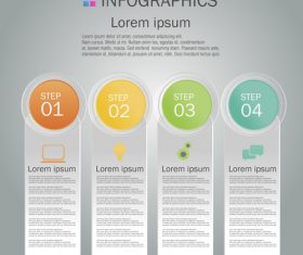 Infographics brochure design template vector