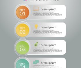 Infographics list banner design template vector