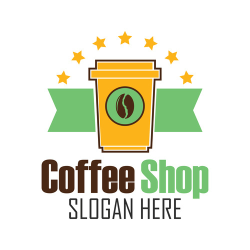 Instant coffee badge with text space vector